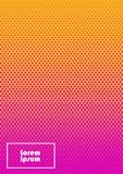 Abstract background 36. Vertical abstract background with dotted halftone pattern in fluorescent colors. A wavy texture of gradient dot ornament. Design template vector illustration
