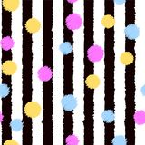 Abstract background with vertical lines and colorful dots. Vector. Abstract background with vertical lines and colorful dots. Vector Stock Photos