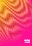 Abstract background 30. Vertical abstract background with striped halftone pattern in fluorescent colors. A wavy texture of gradient line ornament. Design Stock Photos