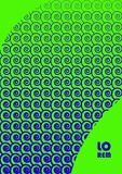 Abstract background 37. Vertical abstract background with unique halftone pattern in neon colors. Texture of gradient small spiral elements ornament and copy Royalty Free Stock Images