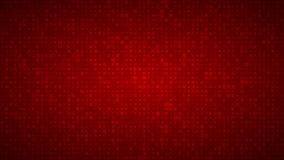 Abstract background of very small squares of different sizes. Abstract background of small squares or pixels of different sizes in red colors royalty free illustration