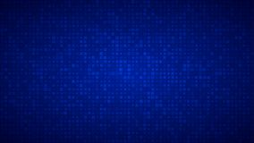 Abstract background of very small squares of different sizes. Abstract background of small squares or pixels of different sizes in blue colors vector illustration