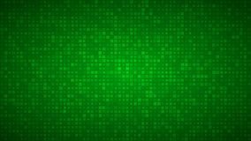 Abstract background of very small squares of different sizes. Abstract background of small squares or pixels of different sizes in green colors vector illustration