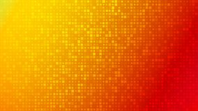 Abstract background of very small squares of different sizes. Abstract background of small squares or pixels of different sizes in red and orange colors stock illustration