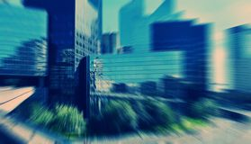 Abstract background. View of the business center of Paris. Blur Stock Photography