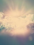 Abstract background with vintage effect. Abstract clouds background with vintage effect added stock illustration