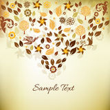 Abstract background. Abstract vintage floral background design Stock Photo