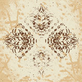 Abstract background of vintage heraldic figures on faded worn Royalty Free Stock Photo