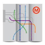 Abstract background of vintage metro scheme Royalty Free Stock Photography