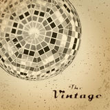 Abstract background of vintage sphere on faded worn paper Royalty Free Stock Photo