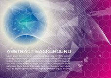 Abstract  background in violet and blue color with wave an. D hexagons. EPS10 Stock Images