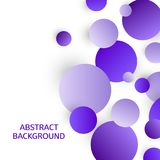 Abstract background with violet circles. Vector illustration.  Royalty Free Stock Image