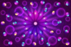 Abstract background with violet flower