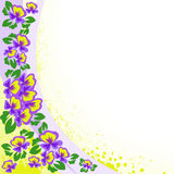 Abstract background with violets Stock Photo