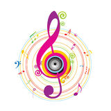 Abstract background with Violin key. Illustration Royalty Free Stock Photo