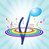 Abstract background with Violin key Stock Images