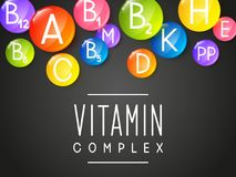 Abstract background with vitamins. Abstract background with main vitamins royalty free illustration