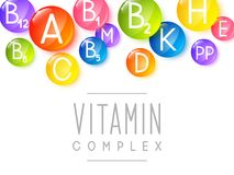 Abstract background with vitamins. Abstract background with main vitamins stock illustration