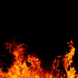 Abstract background with vivid hot fire flames Royalty Free Stock Photography