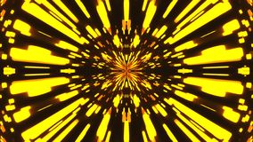 Abstract background with VJ Fractal gold kaleidoscopic. 3d rendering digital backdrop stock illustration