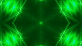 Abstract background with VJ Fractal green kaleidoscopic. 3d rendering digital backdrop stock footage