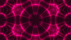 Abstract background with VJ Fractal purple kaleidoscopic. 3d rendering digital backdrop.  Stock Photo