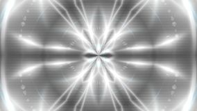 Abstract background with VJ Fractal silver kaleidoscopic. 3d rendering digital backdrop stock video