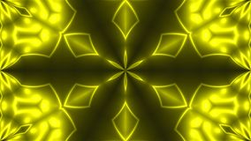 Abstract background with VJ Fractal Yellow kaleidoscopic. 3d rendering digital backdrop.  Royalty Free Illustration