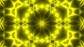 Abstract background with VJ Fractal Yellow kaleidoscopic. 3d rendering digital backdrop.  Stock Image