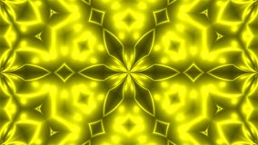Abstract background with VJ Fractal Yellow kaleidoscopic. 3d rendering digital backdrop.  Royalty Free Stock Photo