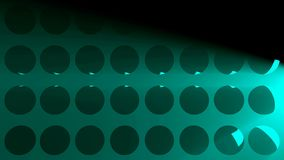 Abstract background with volumetric lights and spheres. 3d rendering Royalty Free Illustration