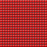 Abstract background of volumetric red squares. 3d illustration. A pattern of quadrangles with glitter. Even mosaic. Wallpapers. For web sites Stock Images