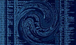 Code Vortex royalty free illustration