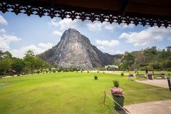 Bhudda Mountian at khao che chan, Pattaya, Thailand royalty free stock photo