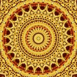 Abstract background wallpaper. Abstract circle golden background wallpaper kaleidoscope line Stock Photography