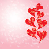 Abstract background wallpaper love hearts. Vector wallpaper background with hearts and circles Stock Photos
