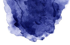 Abstract  Background with water color blue waves  over w Stock Image