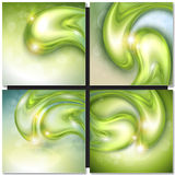 Abstract background with water drops. Abstract background with green water drops, vector stock illustration