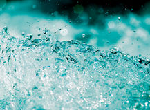 Abstract background. water wave with splashes Royalty Free Stock Image