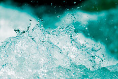 Abstract background. water wave with splashes Royalty Free Stock Photography