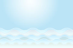 Abstract background with water waves. And place for your text - vector illustration Stock Image