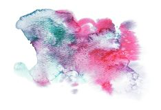 Abstract background with watercolor effects. Colors of paint are stock illustration