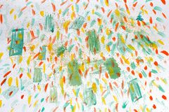 Abstract background watercolor green orange color . stock images
