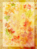 Abstract background, watercolor, leafs Royalty Free Stock Photo