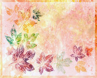 Abstract background, watercolor, leafs Royalty Free Stock Photography