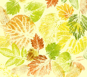 Abstract background, watercolor: leafs Stock Photos