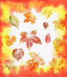 Abstract background, watercolor: leafs royalty free stock images