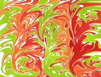 Abstract background. Watercolor marble texture. Abstract red, green and orange watercolor background. Marble texture royalty free illustration