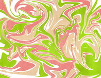 Abstract background. Watercolor marble texture. Abstract lime green, coral pink and beige watercolor background. Marble texture Royalty Free Stock Photography