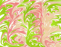 Abstract background. Watercolor marble texture. Abstract lime green, coral pink and beige watercolor background. Marble texture Royalty Free Stock Photo